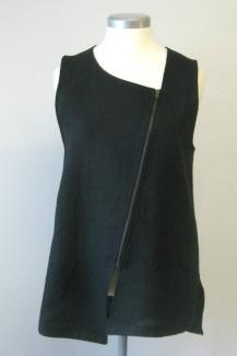 vetoketjuliivi musta pellavaa