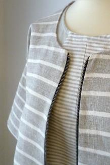 x Vilukko-jakku, raitapellavaa